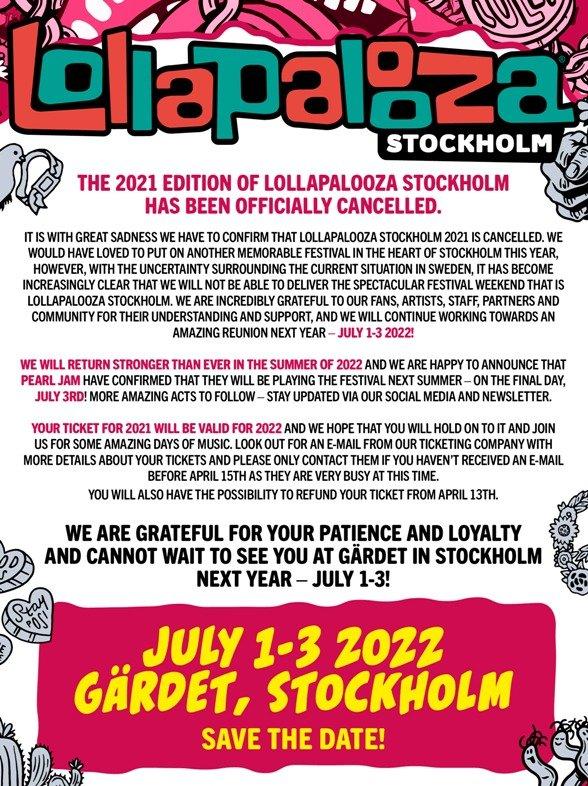LOLLAPALOOZA Stockholm 2022